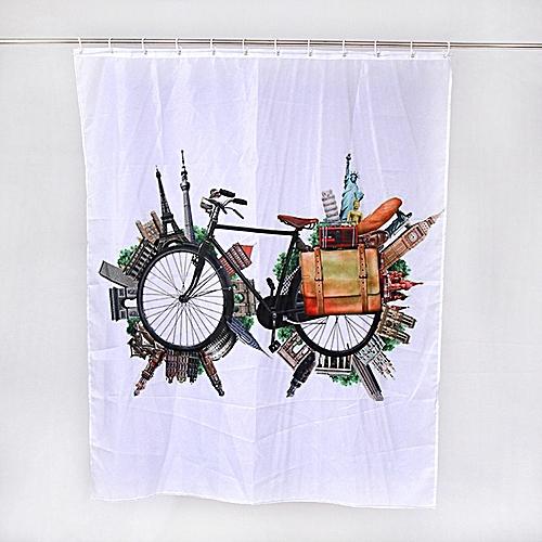 Xiuxingzi_Dtrestocy Custom Fabric Waterproof Bathroom Shower Curtain F