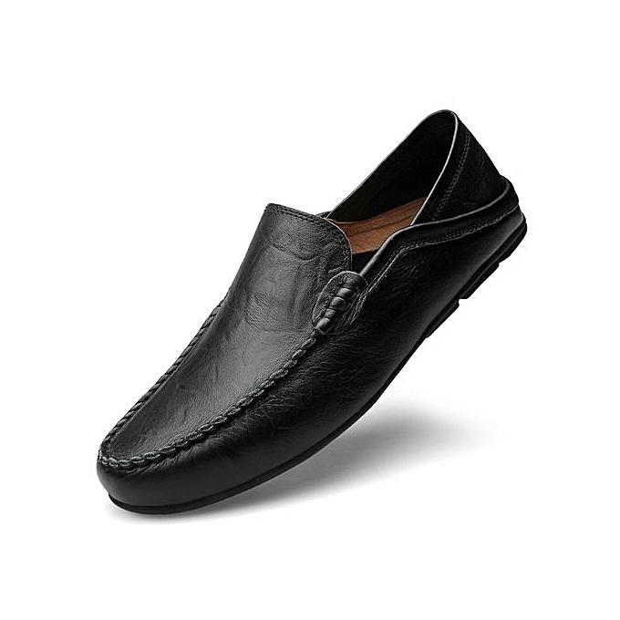740cfc86fb9808 Big Size 37-47 Summer Genuine Leather Shoes Men Casual Moccasins Mens Slip -On