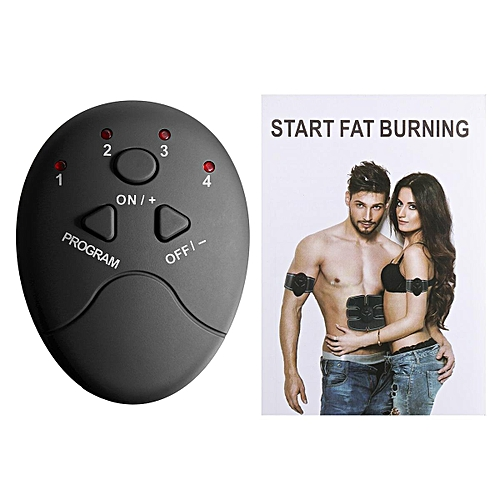 Muscle Training Gear Abdominal Fit Body Exercise Stimulator Black