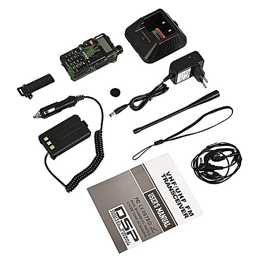 HT Two-Way Radio InterphoneVHF Dual Band Walkie Talkie VHF UHF