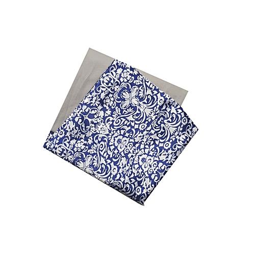Plain & Pattern Cotton Material- Blue