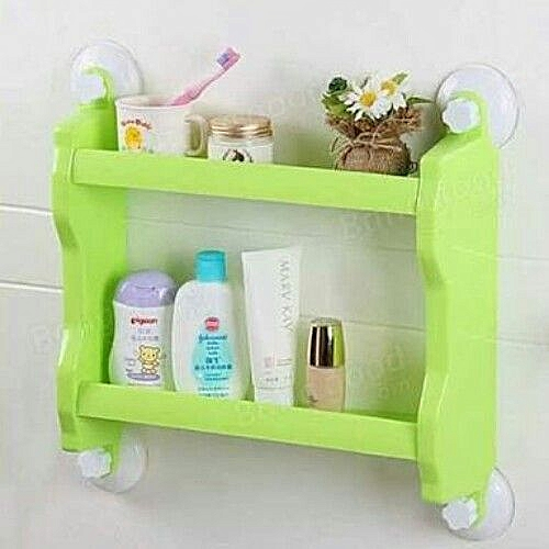Kitchen/Bathroom Double Layer Storage Shelf (Green)