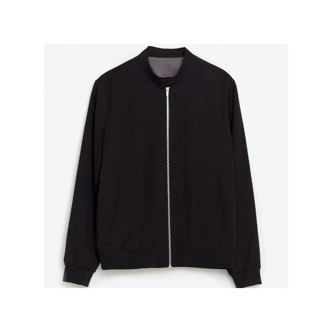 Zara Plain Black Bomber Jacket | Buy online | Jumia Nigeria