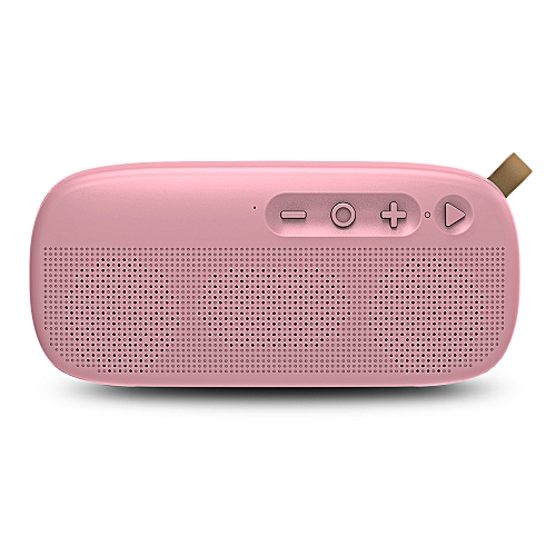 NewRixing NR - 4012 Waterproof Wireless Bluetooth Speaker Stereo Sound Player-PINK