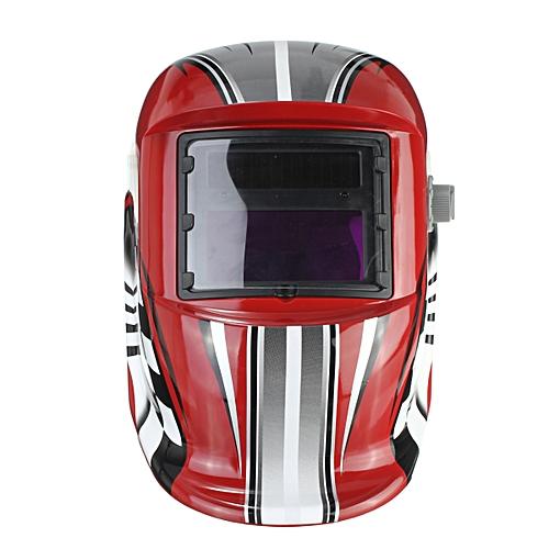 Pro Auto Darkening Welding/Grinding Mask Helmet ACF Red