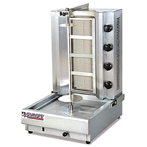Gas Vertical Shawarma/Broiler Machine With 4 Burners