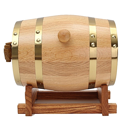 3L Wooden Whisky Wine Barrel Custom Name Groom Groomsman Gifts