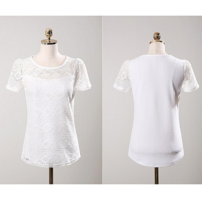 Blouses & Shirts Hard-Working Women Clothing Chiffon Blouse Lace Crochet Female Korean Shirts Ladies Blusas Tops Shirt White Blouses Slim Fit Tops