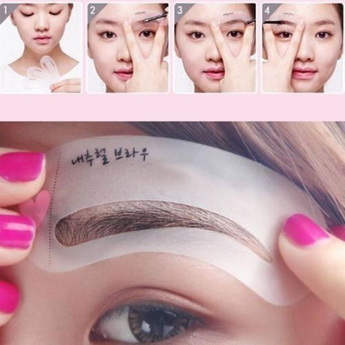 3 Styles Brow Class Drawing Guide Eyebrow Template Make Up Tools Grooming Stencil Kit Shaping DIY Beauty