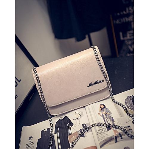 6ae7ccd13358b9 Fashion 2019 Spring And Summer New Fashion Chain Small Square Bag Simple  Single Shoulder Diagonal Handbag Mobile Phone Women's Pink