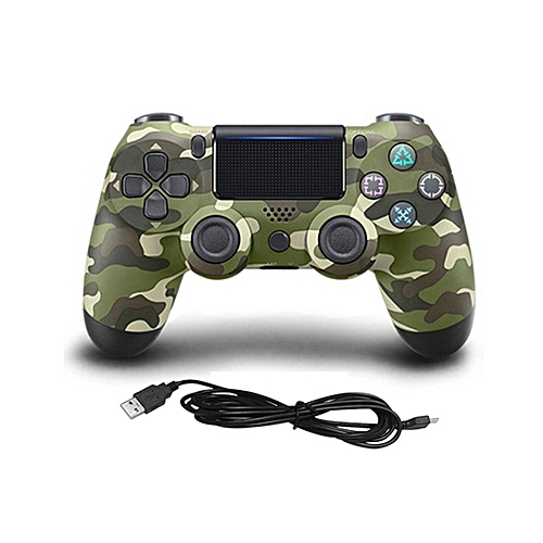 USB Wired Game Controller Gamepad For Sony PS4 Color:Army Green Camouflage