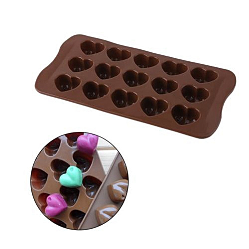 Fashion Non Stick Silicone Chocolate Mold Love Heart Shaped Jelly Ice Fondant Sugar Tool