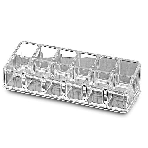 Transparent 12 Squares Desktop Makeup Case Storage Box