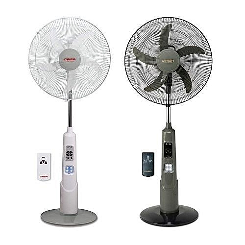 Rechargable Standing Fan With USB, LED Light And Remote