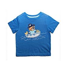 Bear Boat Tshirt Blue
