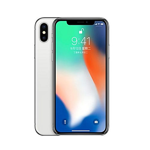 IPhone X 5.8-Inches Super AMOLED (3GB RAM, 256GB ROM)IOS 11(12MP+12MP)+7MP 4G LTE Smartphone-Silver