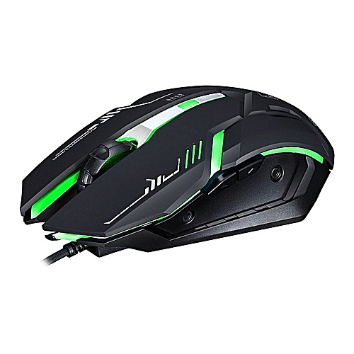 Photoluminescence USB Game Mouse Wired Mouse-Black