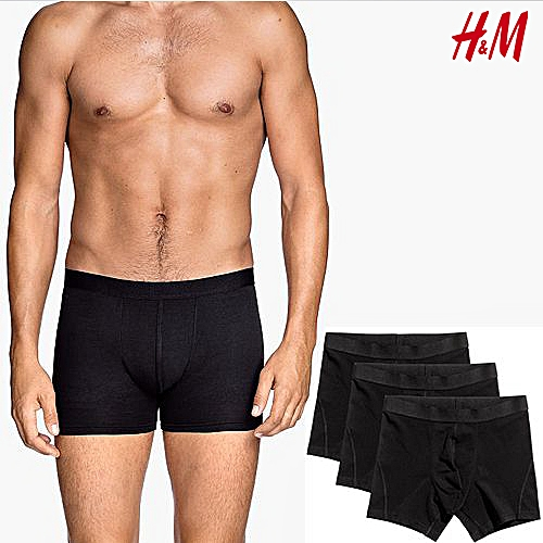Men 3-pack Boxer Briefs - Black
