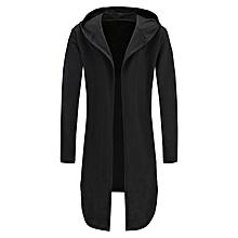 91823372cf9434 S-XXXL Men  039 s Hoody Winter Casual Trench Coat Jacket Cardigan Longline