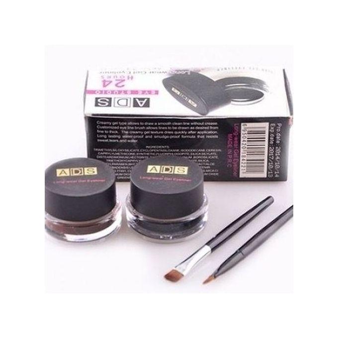 ads 2 in 1 waterproof gel eyeliner buy online jumia