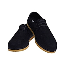 04da504aa1fe Elegant Men  039 s Lace Up   Sneakers Black