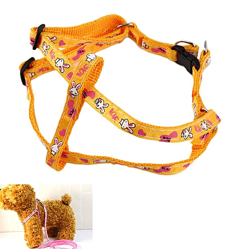 Puppy Traction Rope Rabbit Pattern 120cm-Yellow