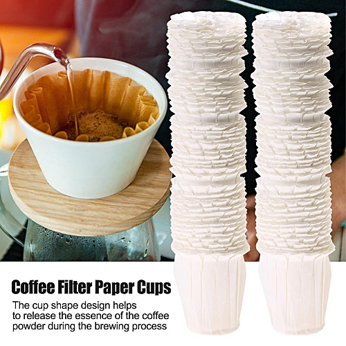 100Pcs Disposable Food Grade Coffee Filters Paper Cups Reusable Filtrating Replacements