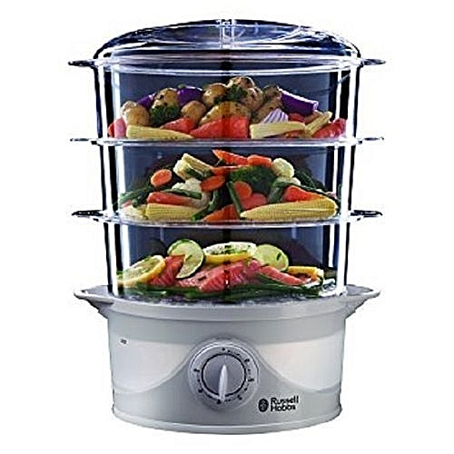 Versatile Three-Tier Fish And Vegetables Turbo Steamer - 9 Litre, 800W