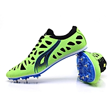 Explosions In Stock Men's Track And Field Shoes Running Spikes Sneakers Playground Training Shoes Adult Spikes Running Spikes Firmly Grasp 35-45(Green) for sale  Nigeria