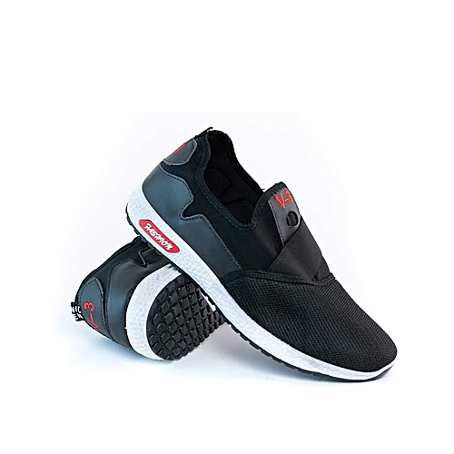 Men's Slip On Cool Fashionable Sneakers - Black
