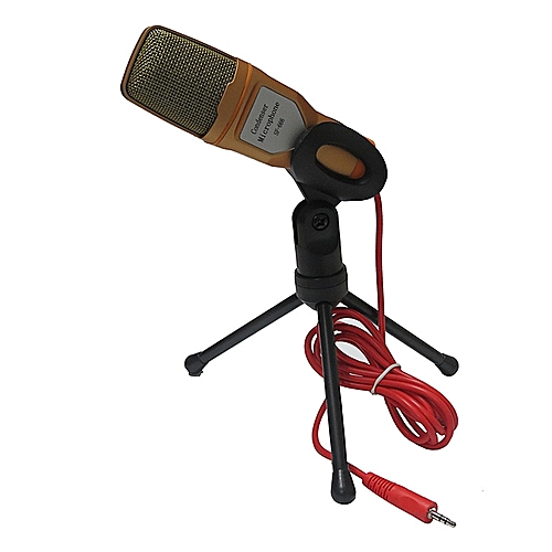 Condenser Sound Studio Microphone Mic For Chat PC Laptop Skype MSN GD-Gold