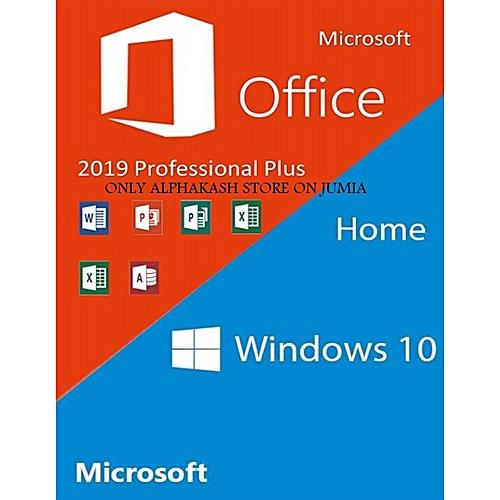 Windows 10 Home + Office 2019 Professional Plus Cd Keys Pack