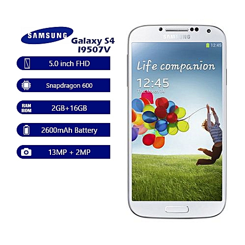 Galaxy S4 I9507V 4G Smartphone 5.0'' 2600mAh FHD 13MP+2MP 2GB+16GB Mobile Phone
