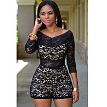 a786530dac92 New Item Black Floral Lace Women Shorts Bodycon Jumpsuit Romper Bodysuit  Club Party Dress S M L XL
