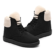 0a03384dd1 Fashion Female Winter Snow Boots Warm Fur Plush Insole Rubber Sole Ankle  Boot-black