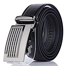 33efff1f9480 Automatic Buckle Business PU Leather Waistband For Men