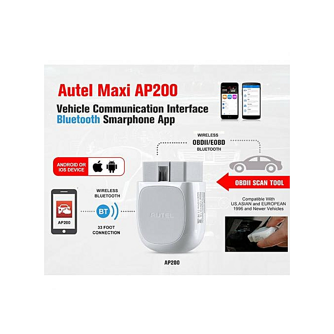 AP200 Bluetooth OBD2 Scanner Code Reader With Full Systems Functions