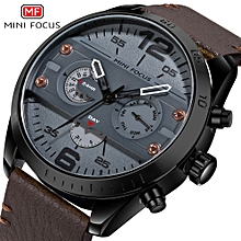 Quartz Watch Men Genuine Leather Male Military Sports Watches WaterProof Man  Wristwatch 58201564e0