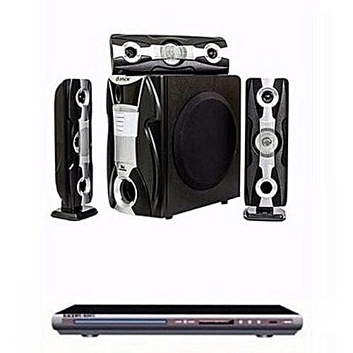 Elite Heavy Duty Bluetooth Home Theatre System - DJ-Q3L + DVD