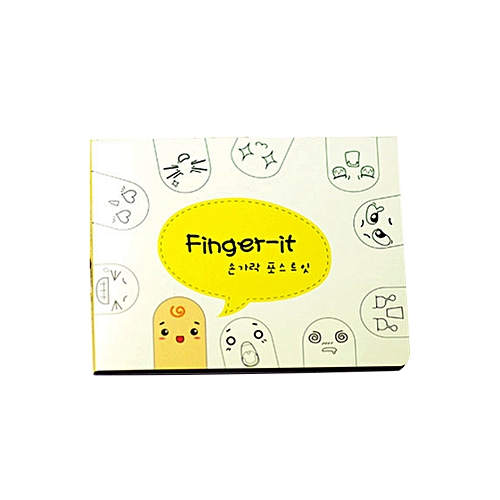 Generic 1Pcs 200 Pages Kawaii Unique Scrapbooking Ten Fingers Sticker Bookmark Tab Flags Memo Book Marker Sticky Notes Office Stationery