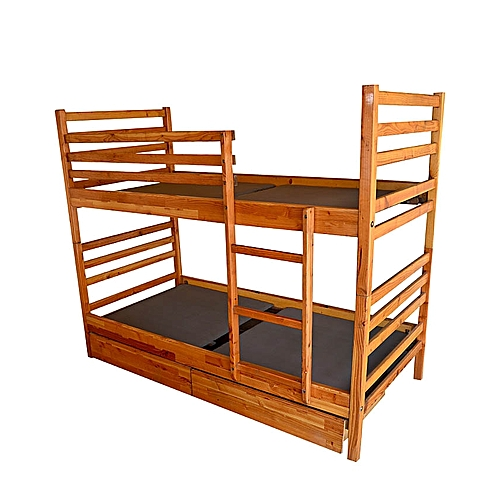 GHF Wooden Pine Detachable Bed - Natural