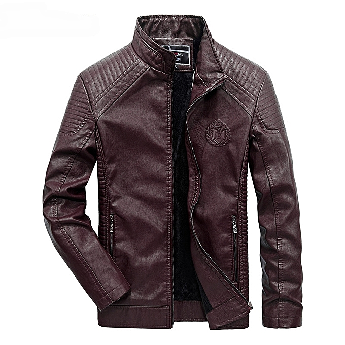 bd145996c Fashion Leather Jacket Men Casual Slim Fit Pu Biker Motorcycle ...
