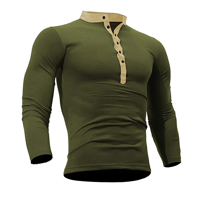 aaa5ff1be1ee Men Spring Autumn Cotton T Shirt Men Solid Color Tshirt Long Sleeve Top AG/L