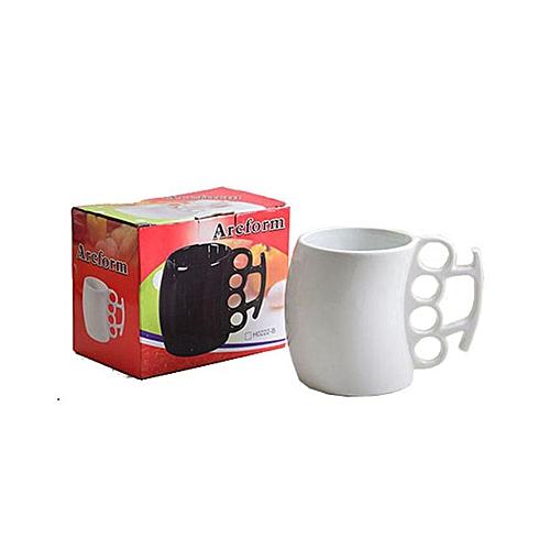 Knuckle Design Fist Mug - White