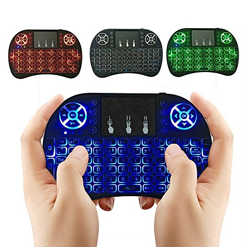 Backlit 2.4GHz Wireless Keyboard Air Mouse Touchpad Handheld Remote Control Backlight For Android TV BOX PC Smart TV Black