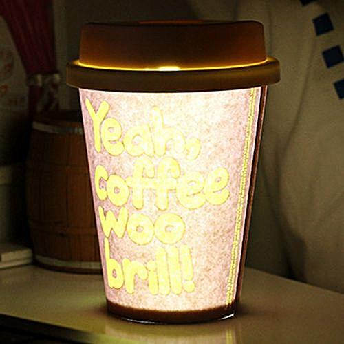 LED Cup Lamp DIY Night Light - Brown