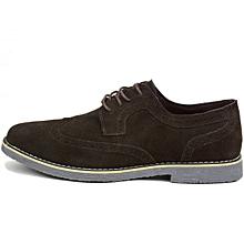 537466471 Alpine Swiss Aston Mens Lace Up Oxfords Genuine Suede Cap Toe Formal Dress  Shoes