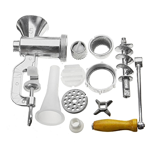 Aluminum Alloy Manual Multifunction Meat Grinder Mincer EnemaTable Kitchen Home