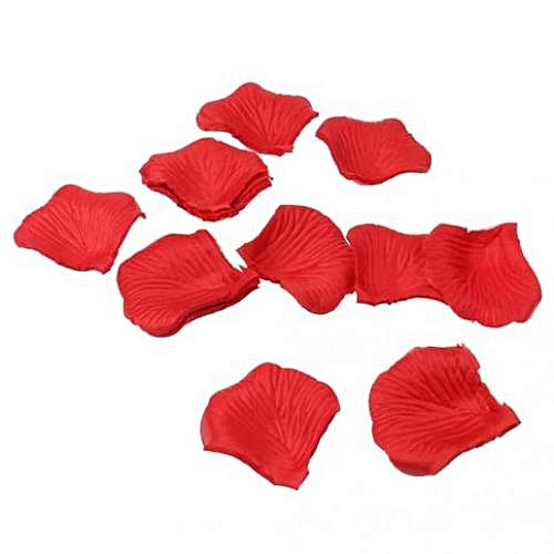 300pcs Fabric Rose Petals Flower Favors For Wedding Party Decoration Red