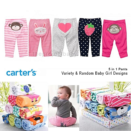 Carter S Baby Girls 5 Pieces Pull On Trouser Pant Jumia Ng
